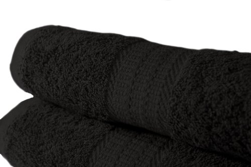 100% Cotton Egyptian Range 500 GSM Bath Sheet in Black