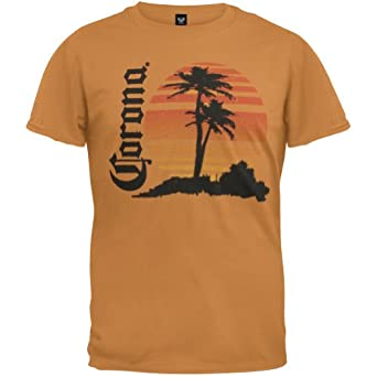 Amazon.com: Corona - Mens Retro Beach T-shirt 2x-large Orange