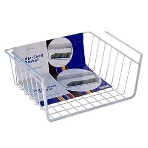 Organized Living Under-Shelf Basket - White