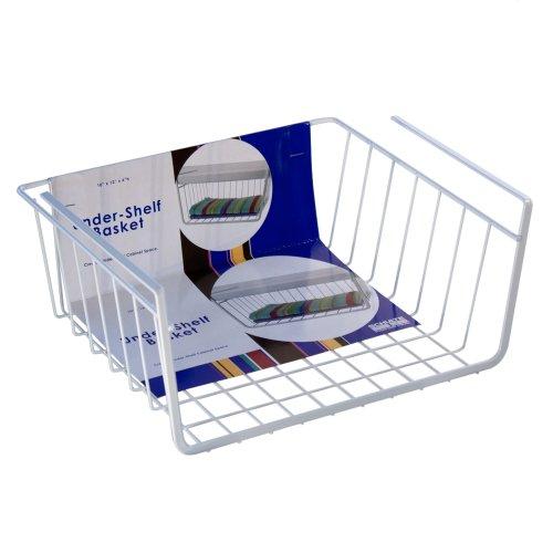 Schulte Small Under Shelf Basket, White
