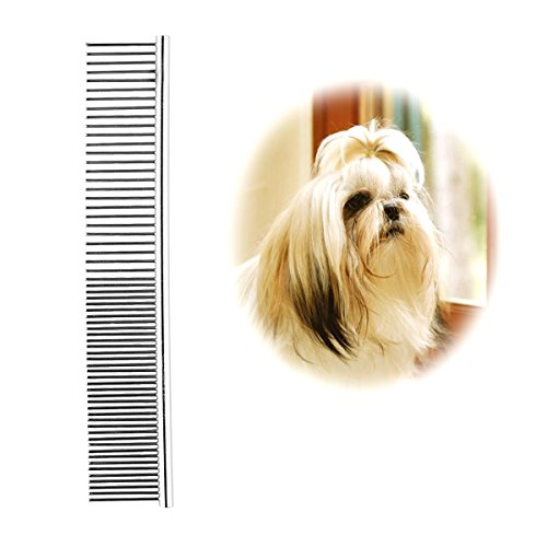 Pet Steel Grooming Comb Sparse Concentrated 2 in 1 for Grooming (Small)
