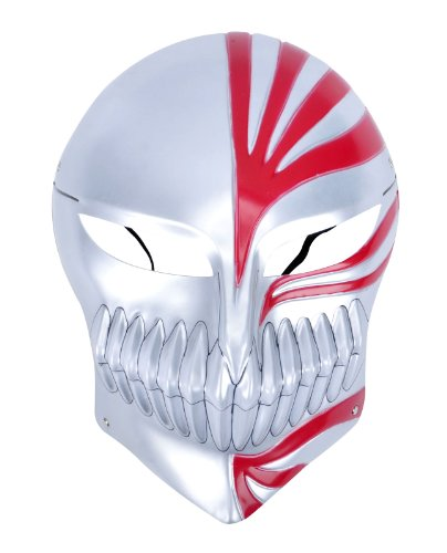 New Stylish Bleach Ichigo Cosplay Costume with Full Face Hollow Mask