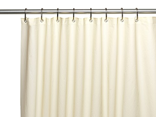 Carnation Home Fashions 10-Gauge Peva 72 By 96-Inch Shower Curtain Liner, X-Long, Ivory