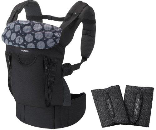 アップリカ 抱っこ紐 コランビギ ナイトブラックBK 【つかれにくい腰ベルトタイプ よだれパッド付】 新生児から使用可 39350