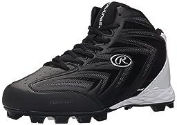 Rawlings Men\'s Renegade Mid Cleat, Black, 8.5 M US