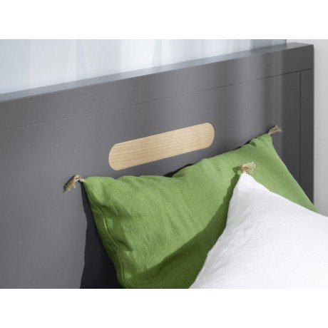 Alfred & Compagnie - Lit junior 90x200 anthracite