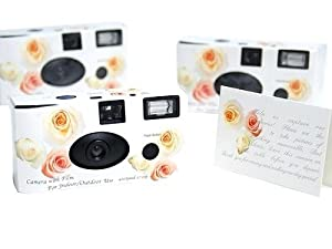 20 Roses Theme Wedding Disposable Camera Favors 27 exp