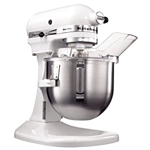 kitchenaid 4 8l 5qt heavy duty bowl lift stand mixer white amazon