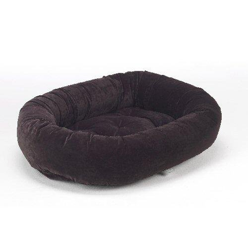 Bowsers Microvelvet Donut Dog Bed in Eggplant