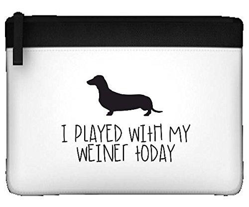 "Ho utilizzato questa app My Weiner Sausage Dog Parody ""Today-Astuccio piatto Misura unica nero"