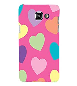 printtech Love Heart Cute Pattern Back Case Cover for Samsung Galaxy A3 (2016)