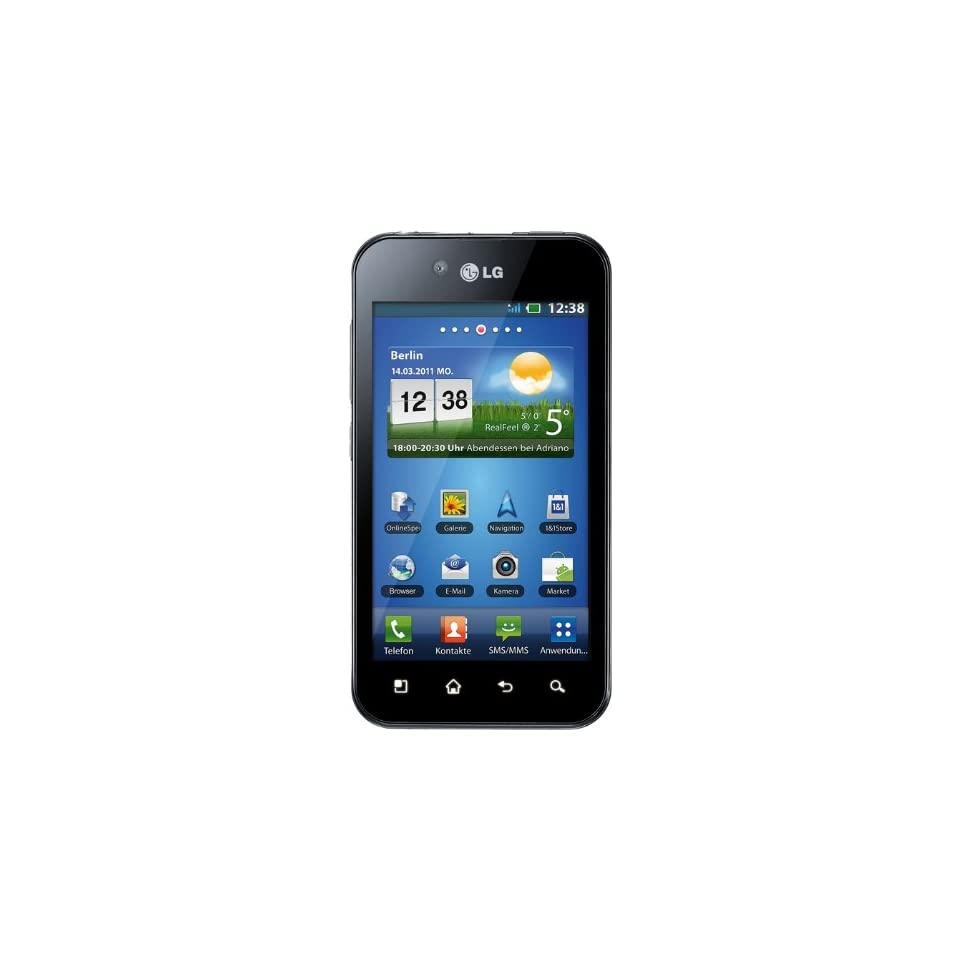LG P970 Optimus Unlocked Android Smartphone with 5MP Camera, Wi Fi, 4 inch Touch screen   No Warranty   Black Cell Phones & Accessories