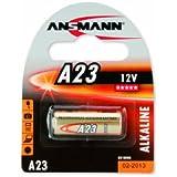 ANSMANN 5015182 A23 Batterie Alkaline - 12V - für Garagentüröffner, Alarmanlage etc.
