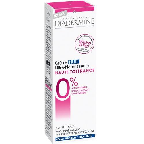 Creme de nuit ultra nourrissante Haute Tolerance DIADERMINE, 50ml