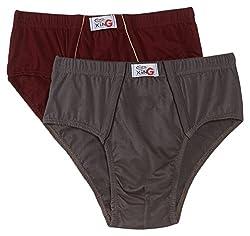 Rupa Frontline Men's Cotton Briefs (Pack of 2)  (890397845377 (XING BRIEF-2P-Assor-75)