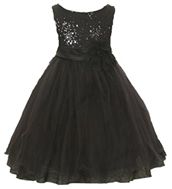 Amazon.com: Kids Dream Girl's Tulle Fancy Party Dress with Sparkles