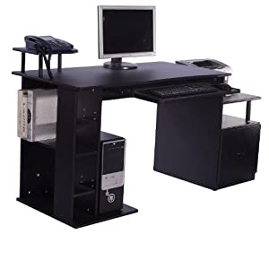 Bureau pour ordinateur table meuble pc informatique for Meuble bureau amazon