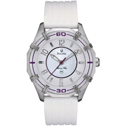Bulova 96L145 Ladies White Silver Watch