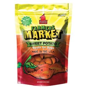 Plato Farmers Market Sweet Potato Treats for Dogs 12 oz