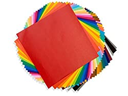 AND-Generic 20 x 20 cm Double-sided Colored 60 GSM Folding Origami Paper (Assorted Colors)