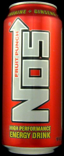 16 Pack - NOS High Performance Energy Drink - Fruit Punch - 16oz.