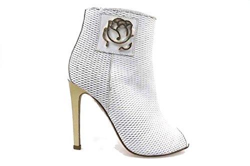 Scarpe donna BRACCIALINI 37 sandali bianco pelle ap541