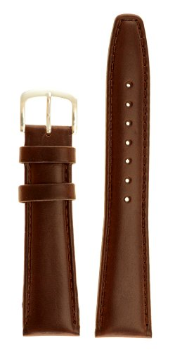 Men's Genuine Italian Leather Watchband - Color Brown Size: 18mm Watch Strap