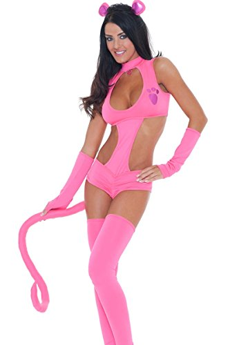 3WISHES 'Scandalous Panther Costume' Sexy Pink Halloween Costumes for Women