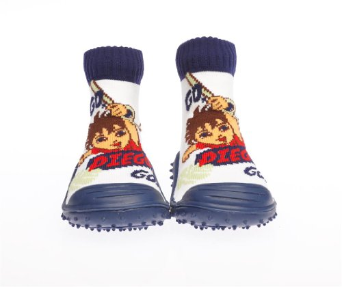 Cheap Skidders Nickelodeon Go Diego Go! Kids Slip-Resistant Indoor/Outdoor Slip-On Hybrid Shoes with Socks (B004KNM63M)