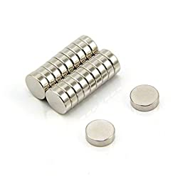 Sonal Magnetics Nickel Coated Magnet Dia. 10mm x 3mm Thk. - 15 Pcs.