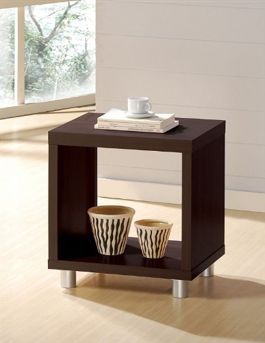 Image of Contemporary Espresso Finish End / Side Table (VF_AM6611)