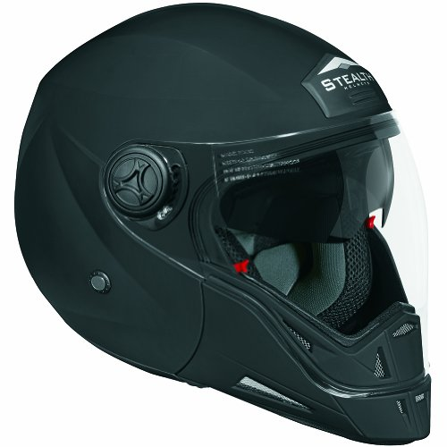 Stealth Phantom Convertible Helmet (Flat Black, X-Large)