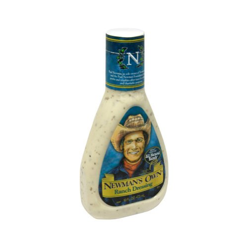 Newman's Own Salad Dressing, Ranch, 16-Ounce Bottles (Pack of 6)