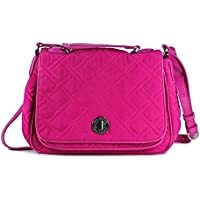 Vera Bradley Microfiber Turnlock Crossbody Bag