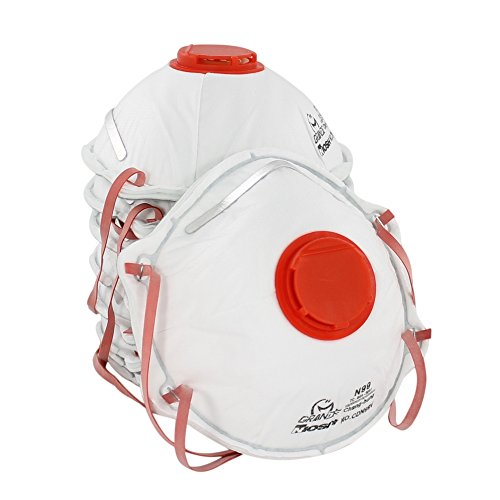 Best Deals! AMSTON Dust Masks, N99 NIOSH-Certified Respirator with Valve (Box of 10) Personal Protec...