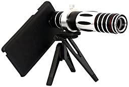 Apexel 5X-15X Optical Zoom Telephoto Telescope Camera Lens with Tripod & Back Cover for Samsung Galaxy Note 3 N9000