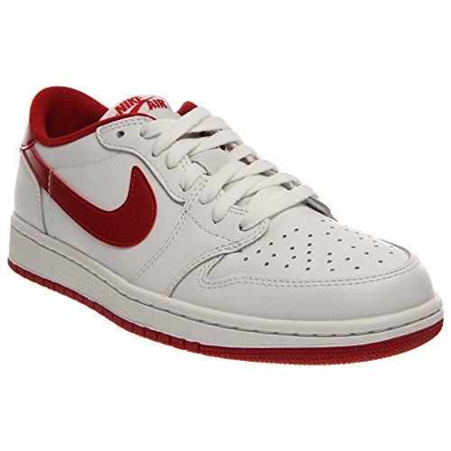 Nike Men's Air Jordan 1 Retro Low OG White/Varsity Red/White Basketball Shoe 10 Men US (Jordan Classics compare prices)