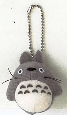 "Studio Ghibli My Neighbor Totoro 1.5"" grey Totoro with chain - 1"