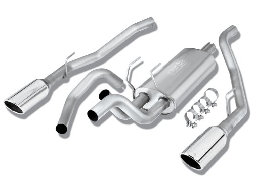 Borla 140307 Stainless Steel Cat-Back Exhaust System - RAM 1500 '09 5.7L V8 RWD 4DR CC SB (Dodge Ram 1500 Exhaust System compare prices)
