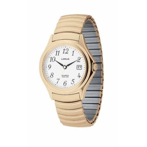 Lorus Watch Gold-Tone Stretch Men's LR0601 Sale