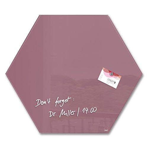 sigel-gl282-glas-magnetboard-magnettafel-artverum-rot-sechseck-40-x-46-cm-weitere-farben-form