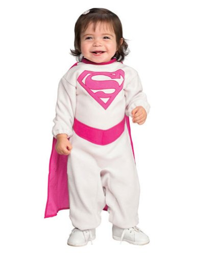 Pink Supergirl Baby Costume 6-12 Months