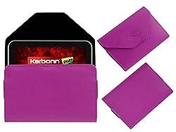 Acm Premium Pouch Case For Karbonn Cosmic Smart Tab 10 Flip Flap Cover Holder Pink