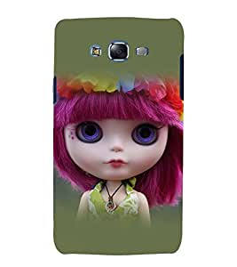 printtech Cute Girl Doll Back Case Cover for Samsung Galaxy J7 (2016 )