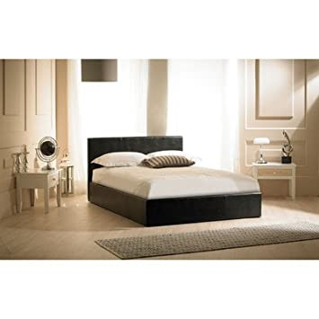 "Madrid Ottoman Bed Frame Colour: Black, Size: Double (4' 6"")"