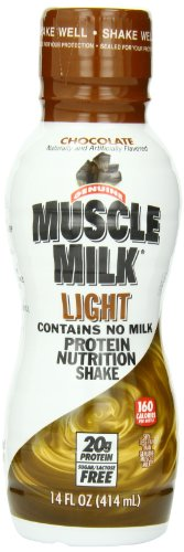 CytoSport Muscle Milk Light, Ready-to-Drink Shake, Chocolate, 14 Ounce, (Pack of 12)