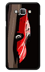 """Humor Gang Red Sport Car Love Printed Designer Mobile Back Cover For """"Samsung Galaxy A8"""" (3D, Glossy, Premium Quality Snap On Case)"""