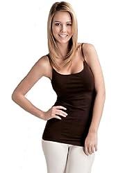 Plain Long Spaghetti Strap Tank Top Camis Basic Camisole Cotton Plus Size