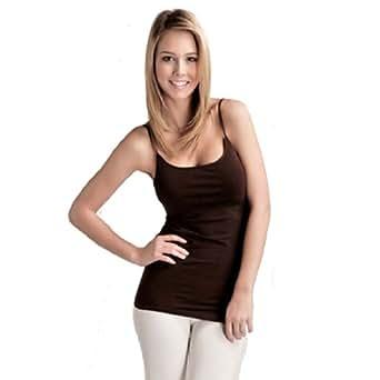 Plain Long Spaghetti Strap Tank Top Camis Basic Camisole Cotton Plus Size (1XL, Aqua)