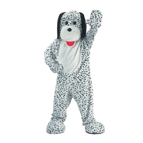 Dress Up America Dalmatian Mascot, White/Black, One Size